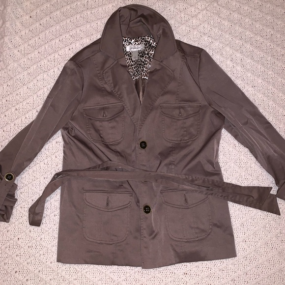 Dress Barn Jackets & Blazers - Brown dress barn  button down Jacket